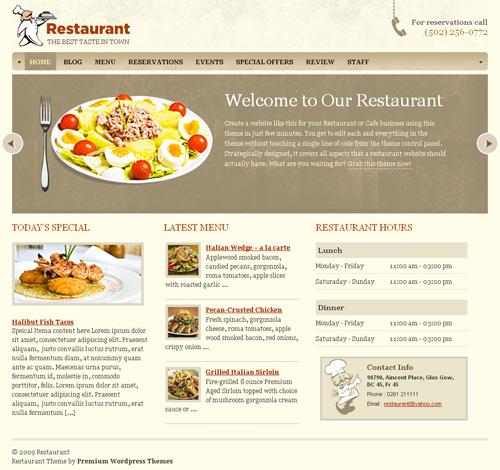 Szablon dla restauracji