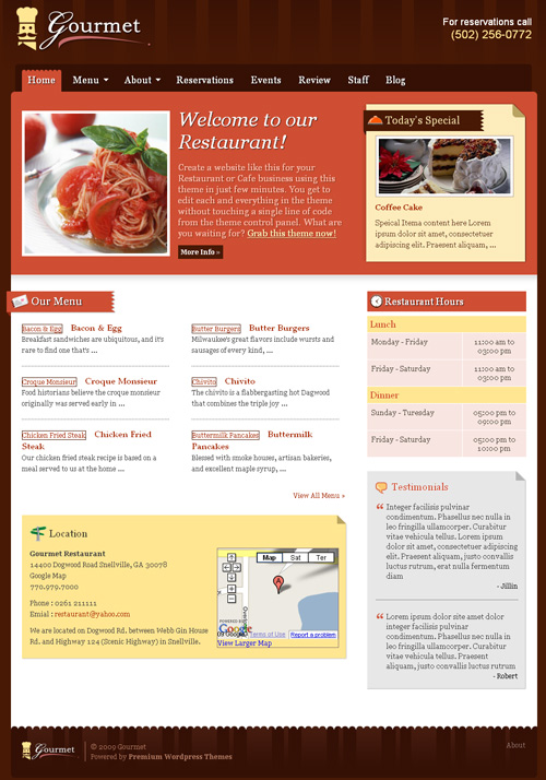Wordpress Restauracja