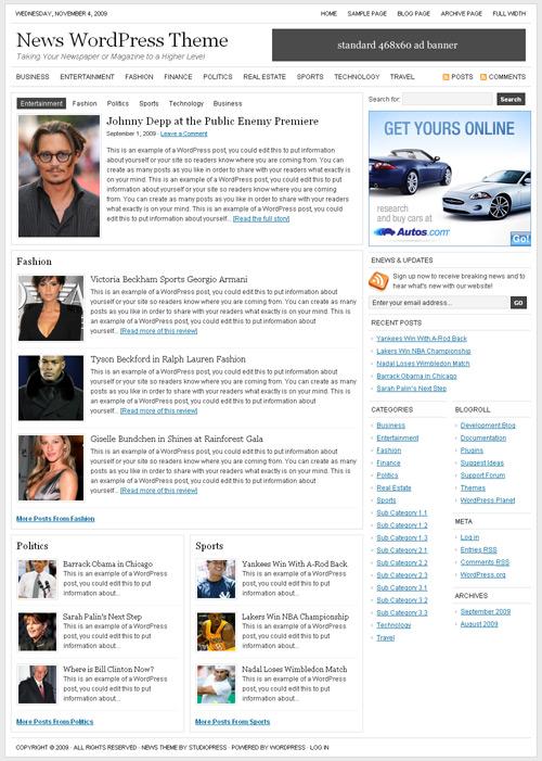 StudioPress - szablony dla serwisów informacyjnych