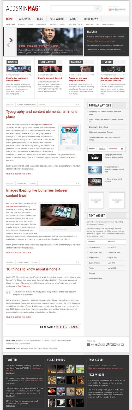 Acosmin Mag2 szablon wordpress