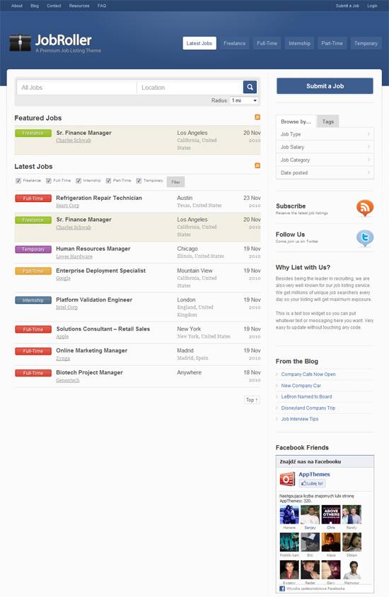 AppThemes - JobRoller szablon na portal z ofertami pracy wordpress