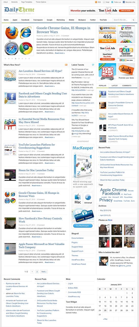 DAILY - szablon na rozbudowany blog lub serwis informacyjny