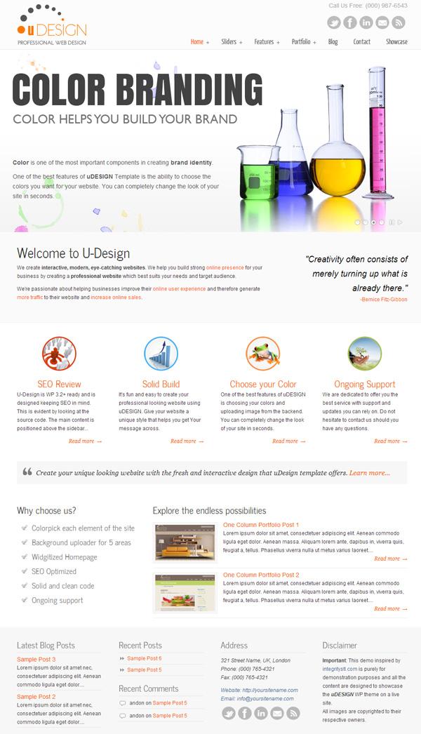 udesign - najpopularniejszy szablon WordPress