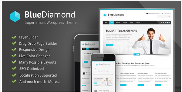 bluediamond - wordpress theme