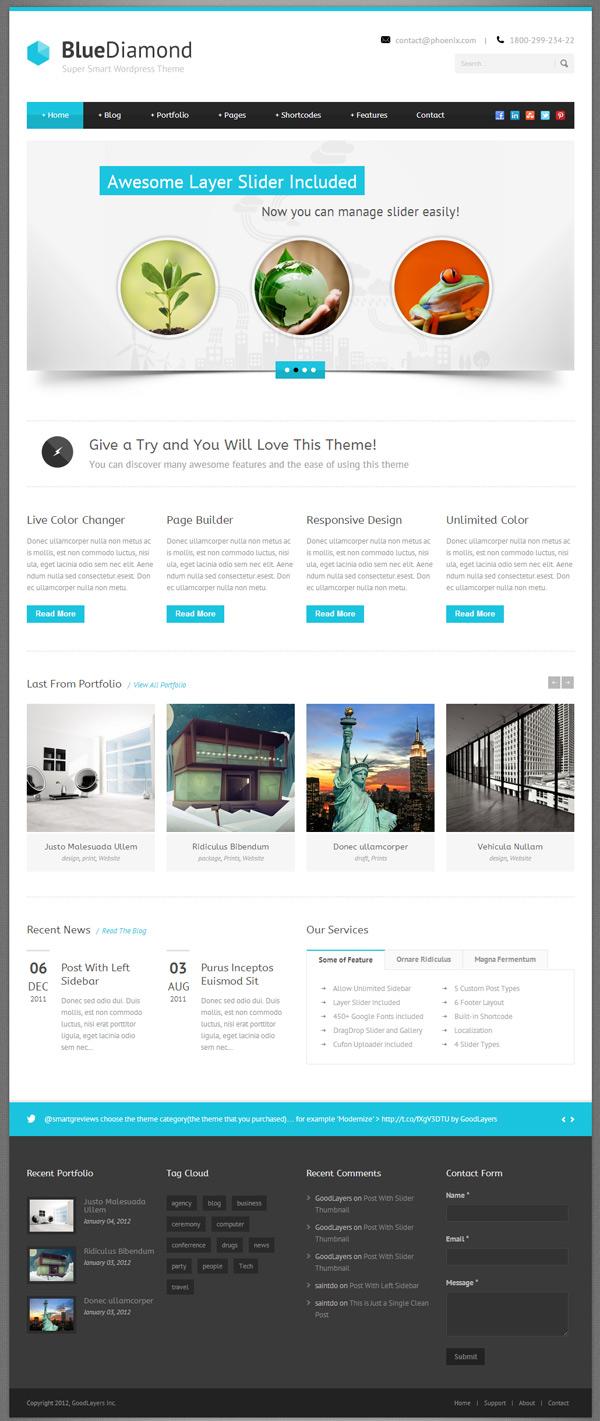 BlueDiamond - motyw biznesowy WordPress