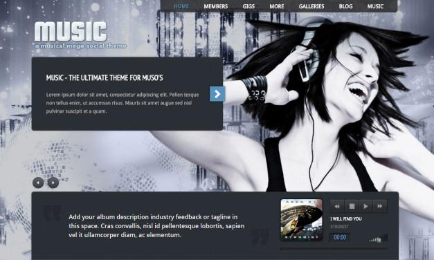 10 fantastycznych szablonów dla muzyków, DJ'ów i producentów muzycznych